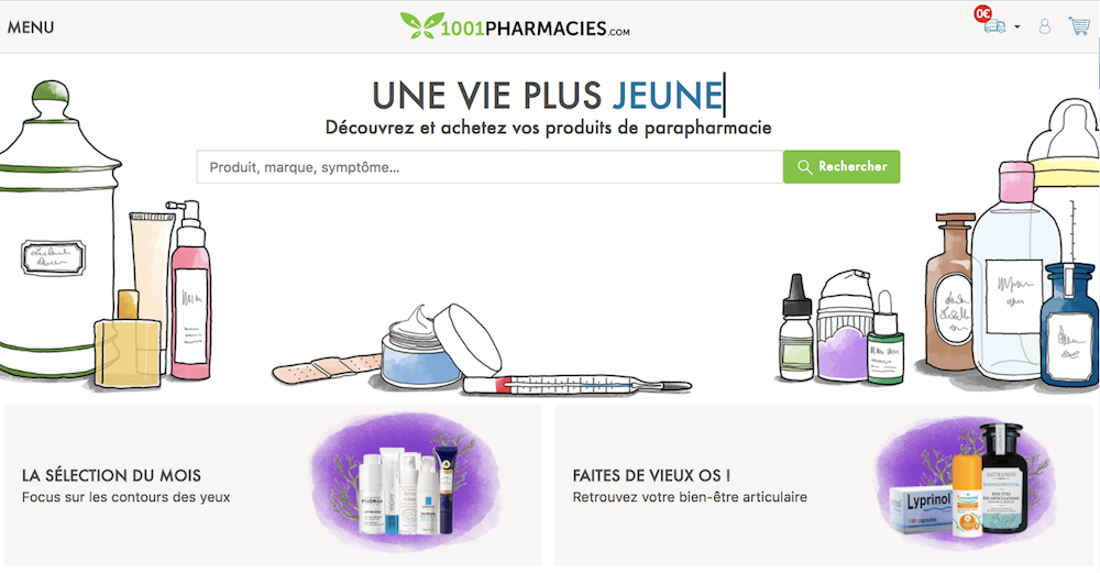 Site web de 1001pharmacies